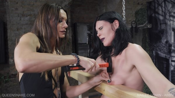 Abby, QS - Nailed Down (not full video) (2019 / FullHD 1080p)