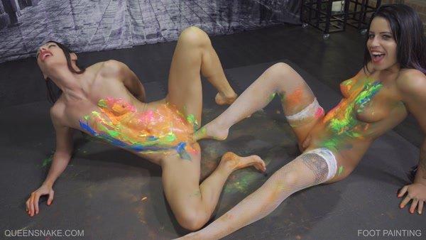 Jessica , QS - Foot Painting (2019 / FullHD 1080p)