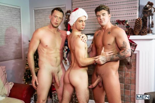 MN - Pierce Paris, Michael DelRay, JJ Knight - Jingle Balls Cock - Bareback
