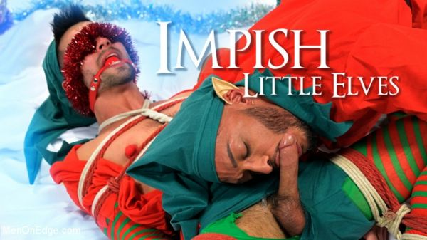 Kink - Impish Little Elves - Casey Everett Edged by Santa and his Lil Helper