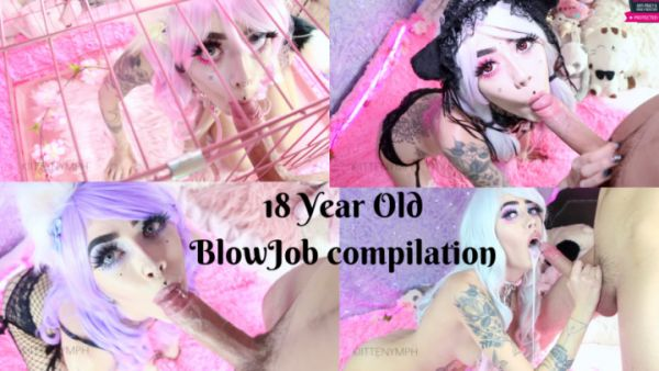 Kiittenymph - Blowjob - 18 Year Old Blowjob Compilation (FullHD 1080p) [2019]